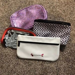 4-Piece High End Make-Up Brand Make-Up Bags NEW